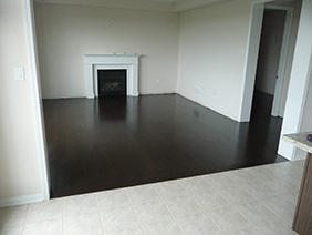 Hardwood floors installation in Milton.