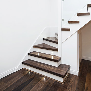 Milton Hardwood Floor   Unfinished Installation. STAIRS