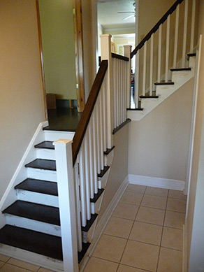 Stairs refinishing in Milton.